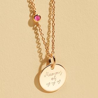 Joyas grabadas personalizadas: joyas para regalo de cumpleaños