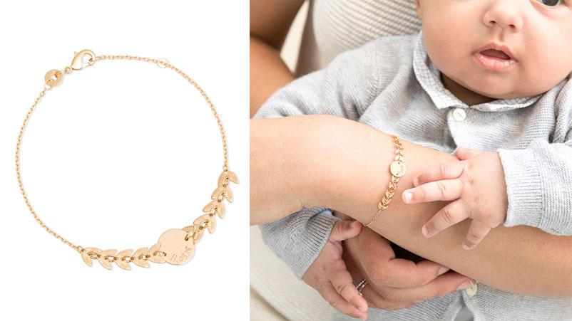 Bracelet personnalisé Feuilles de laurier