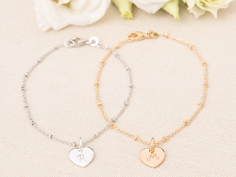 Bracelet Initiale sur Chaîne