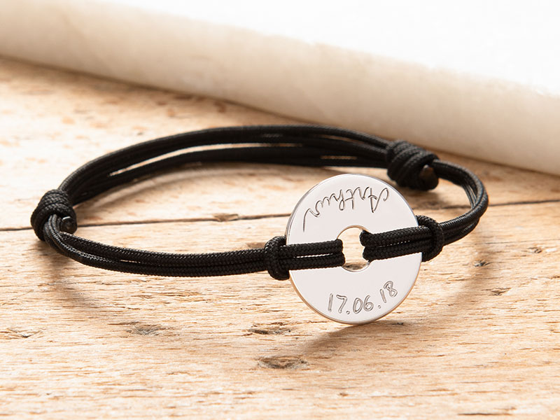 merci-maman-him-dad-sterling-silver-gold-plated-open-disc-bracelet-silver-black-fathers-day-2018-800x600