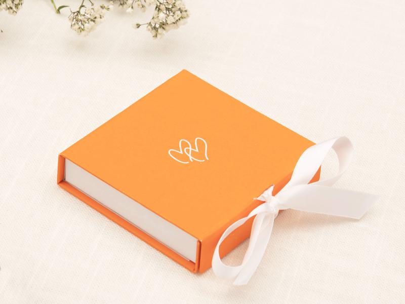 Merci Maman boîte cadeau orange