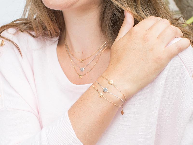 Collection Mini Charm Coeur, Étoile, Disque
