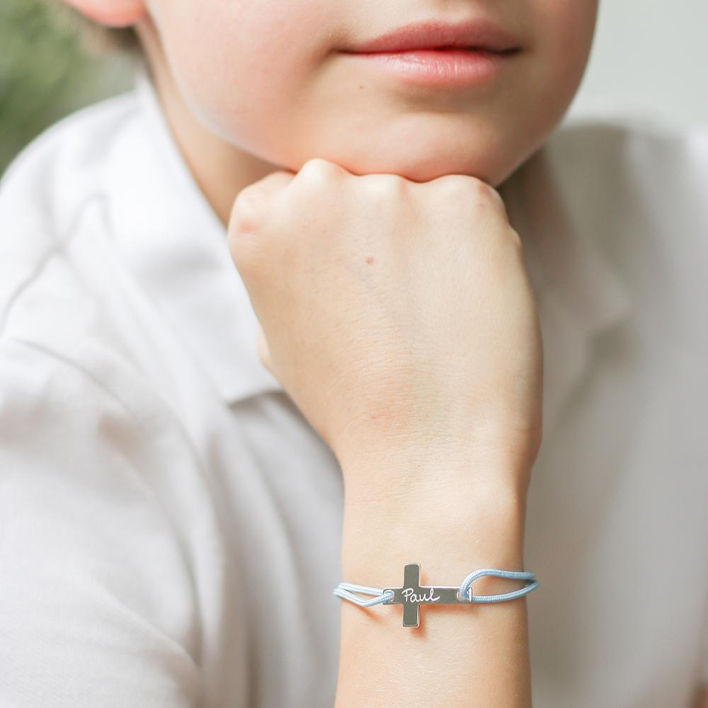 Bracelet personnalisé Croix Plate