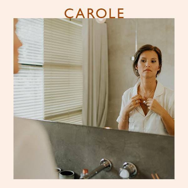 Carole, fondatrice de JOONE et tout juste mariée !