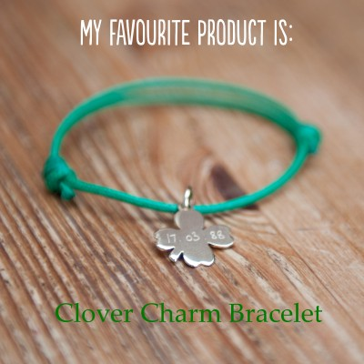 Personalised Clover Charm Bracelet