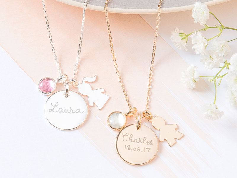 merci-maman-her-mum-gold-plated-sterling-silver-personalised-new-baby-necklace-lifestyle-mothers-day-2018