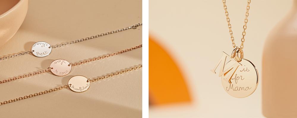 Alphabet Necklace & Personalised Pastille Chain Bracelet