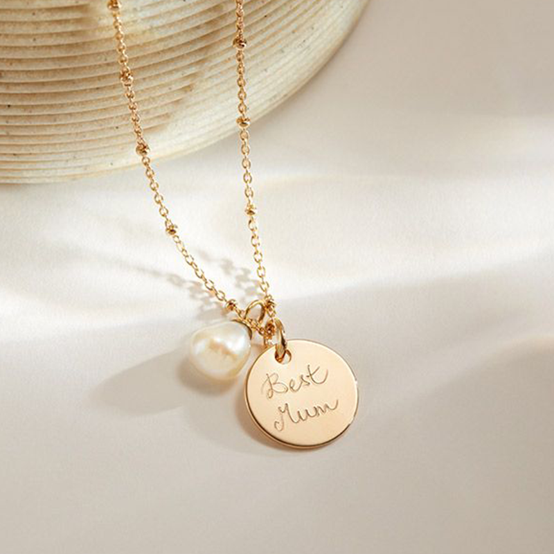 Button to buy jewellery product: Personalised Pearl Drop Necklace