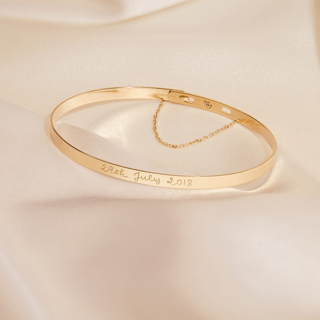 Product Image of Fine Solid Gold Flat Bangle