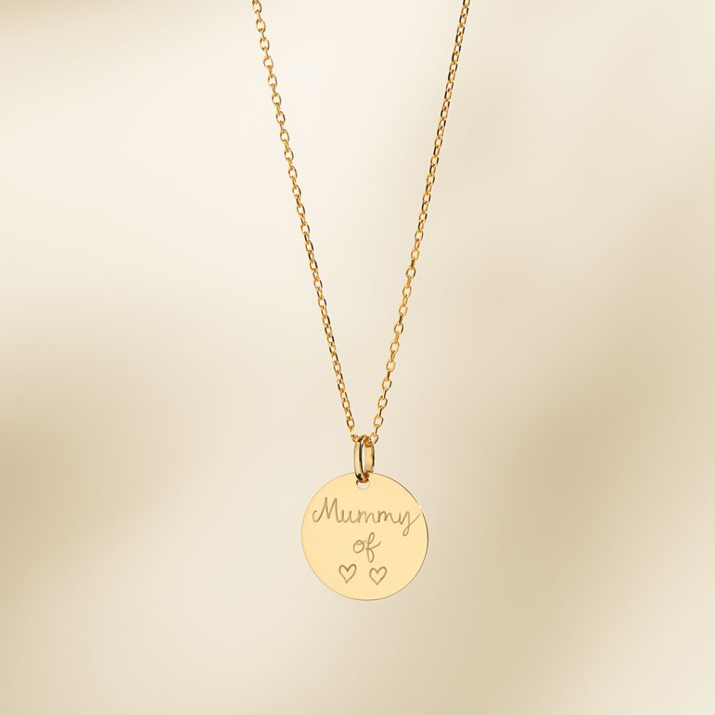 Product Image of Fine Solid Gold Disc Necklace