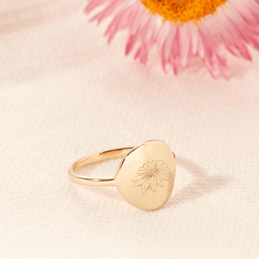 Product image of our Birth Flower Ring