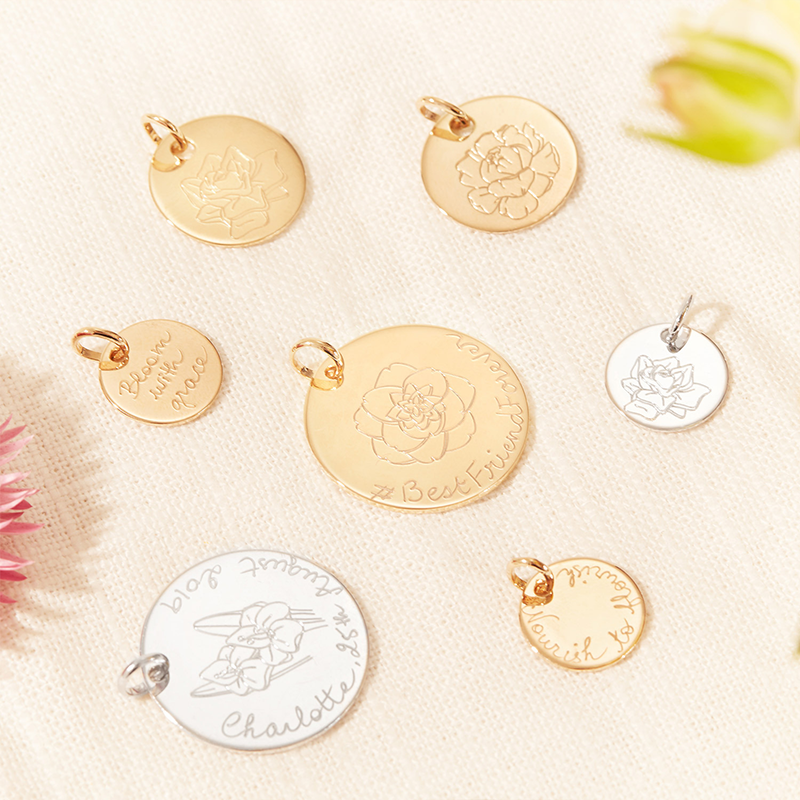 Product image of multiple birth flower and disc charms
