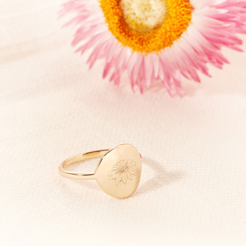 Product image of birth flower ring